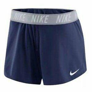 Nike Women's Navy Blue Dry Attack Training Shorts